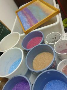 Pasta de papel. Colores en masa