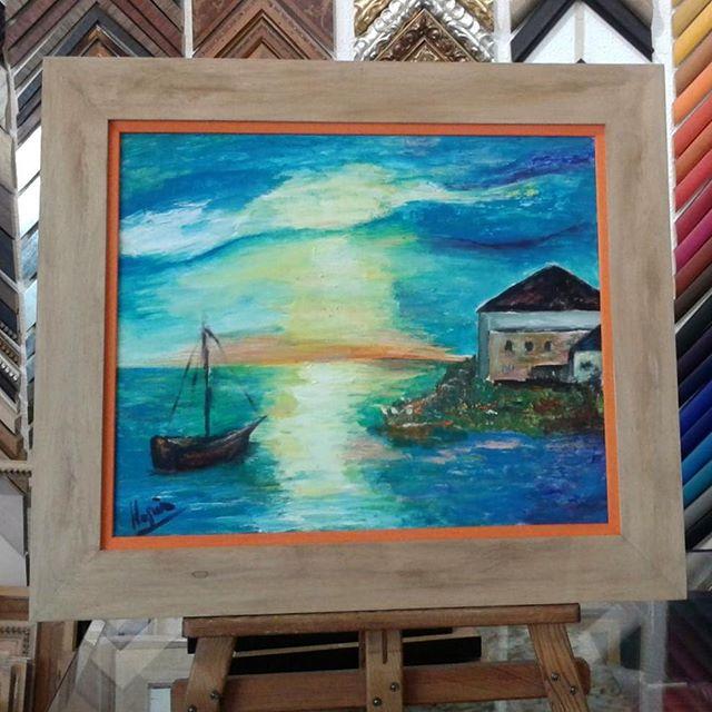 pinturaaloleo de la #artista Montse Llopis que nos trajo @maria5270 ...