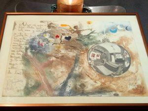 #grabado de felicitación de #Navidad  de autoría coral de R. Undiabeitia, Kabir, J.Kaki, c.Gonçalves … Recuerdo de otros tiempos ;-) Recuperado en la memoria gracias al @elmarcoverde #arte #artesanía #calidad #barcelona #fortpienc