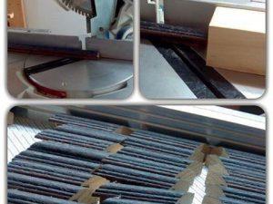 Un #trabajo que no se ve cuando enseñas un #marcohechoamedida muy pequeño… Dónde pones los #dedos para cortar con la #sierra esta #moldura ??? #arte #artesanía #hechoamano #madera #seguridad #barcelona #fortpienc