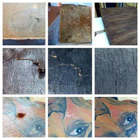 Restauración de faltas de pintura