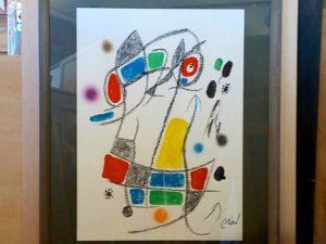 Miró: litografía enmarcada