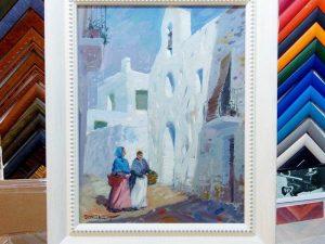 Pintura de Domenech enmarcada