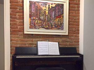 Música y pintura. Arte y decoración.