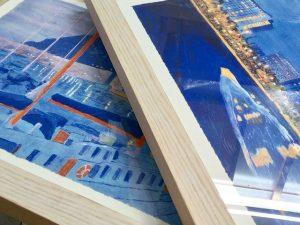 Marcos a medida para litografías de Barcelona