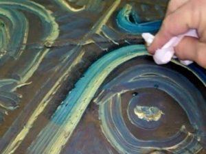 Limpieza de pintura al óleo
