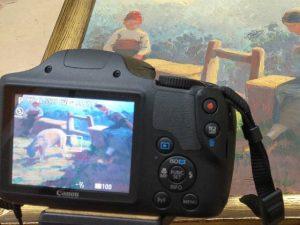 Documentar restauración de pintura