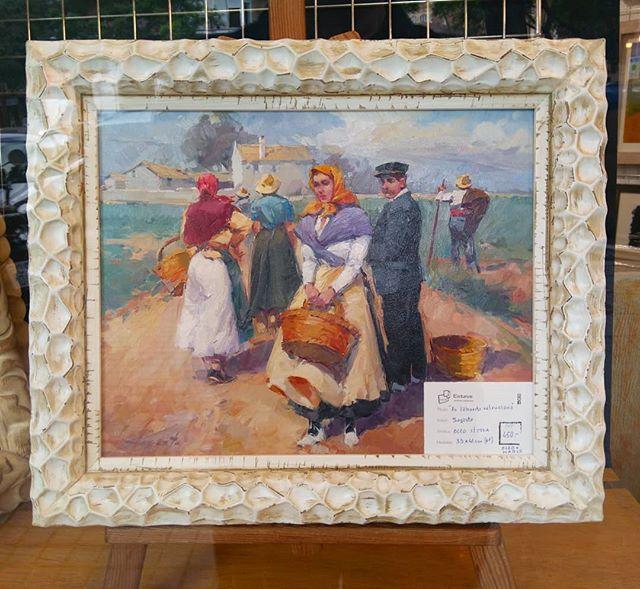 Pintura al óleo enmarcada - Esteve Enmarcadores