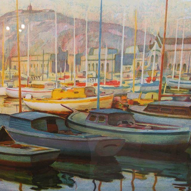 Puerto de Barcelona. Litografía de J.Bueno - Esteve Enmarcadores