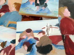 Pinturas al óleo costumbristas de R. Vila