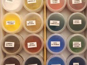 Selección de pigmentos para retoque