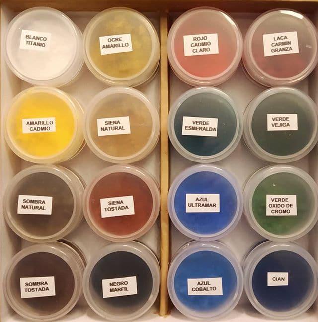 Selección de pigmentos para retoque. - Esteve Enmarcadores