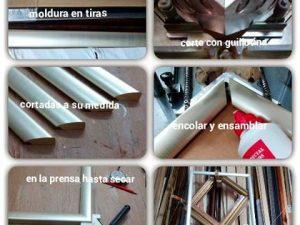 Proceso de #fabricación de un #marco #hechoamedida Cada uno es #especial y en muestro #taller aplicamos los #pasos y procedimientos de #corte y #ensamblado más adecuados para cada caso.#molduras #marcosamedida #barcelona #fortpienc #único #personal #artesanía #manual