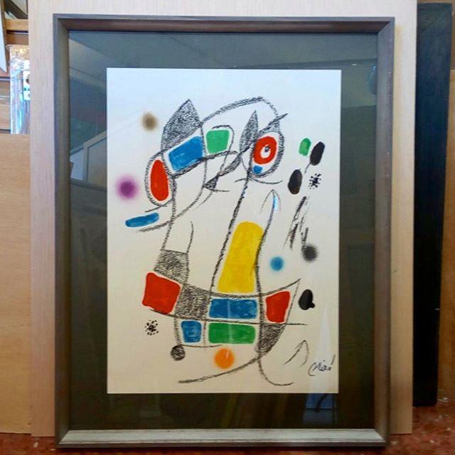 Litografía de Miró enmarcada en Esteve Enmarcadores