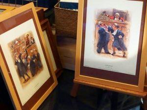 Ilustraciones de abogados y juicios