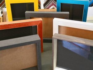 Portafotos artesanales. Colores y texturas
