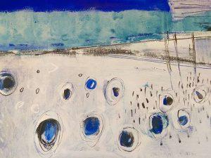 Pintura al óleo. Abstracción. Detalle