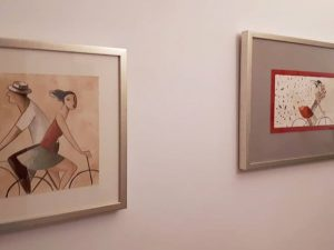 Litos de Didier Lourenço enmarcadas y colgadas