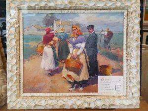 Pintura al óleo enmarcada