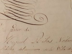 Recuperar y conservar documento del S..XIX