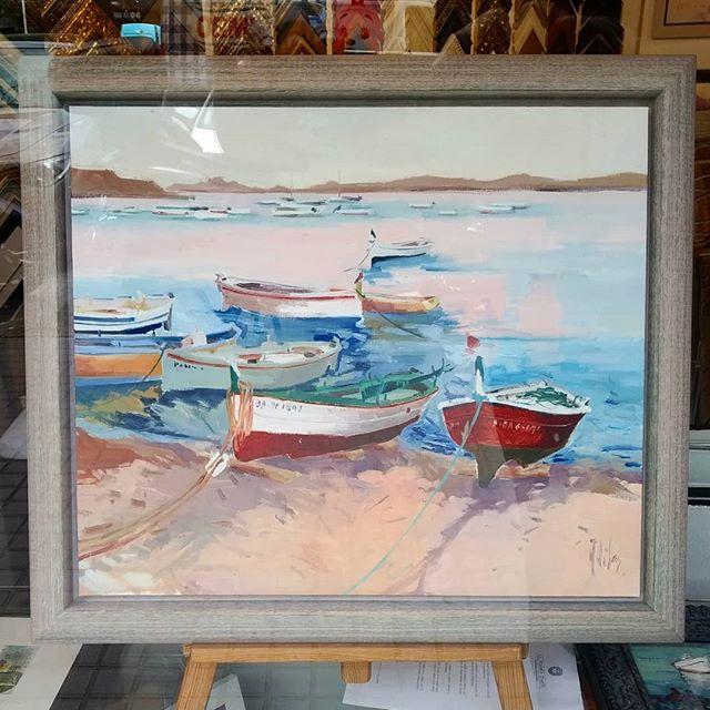 Marina. Pintura al óleo enmarcada - Esteve Enmarcadores