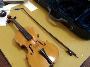 Enmarcar un violín? Pues también!