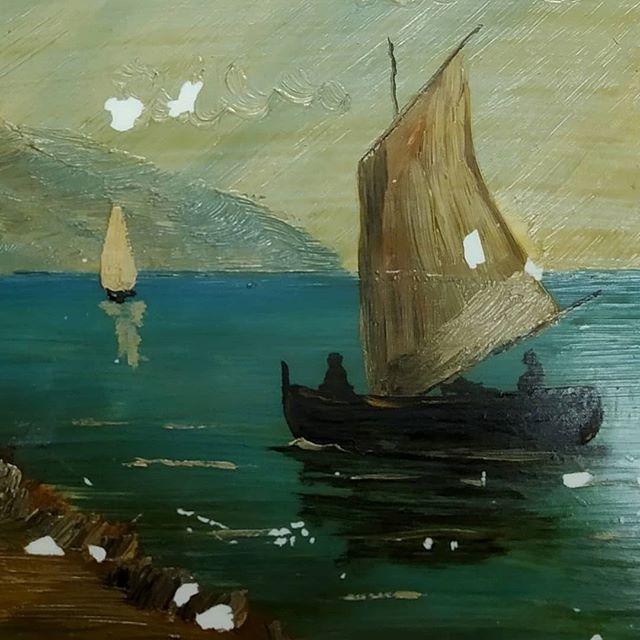 Restauración de pintura sobre baldosa - Esteve Enmarcadores