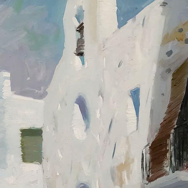 Pintura al óleo Blancos y detalles - Esteve Enmarcadores
