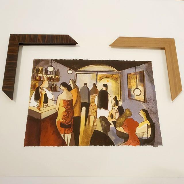 Enmarcar litografía de D Lourenço - Esteve Enmarcadores