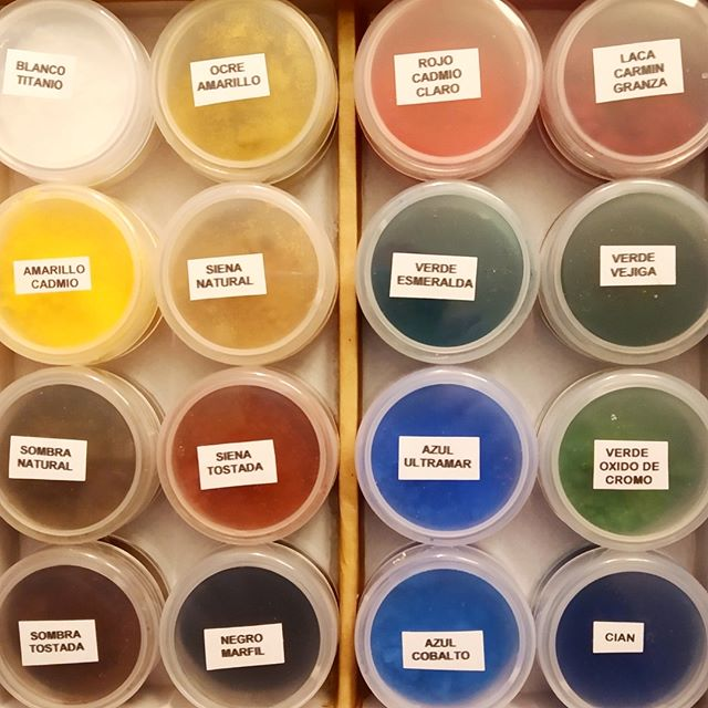 Pigmentos para restauración de pintura - Esteve Enmarcadores
