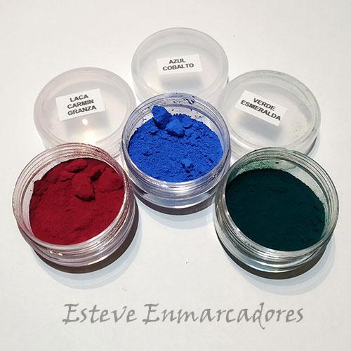 Carmín Granza - Azul Cobalto - Verde Esmeralda - Esteve Enmarcadores