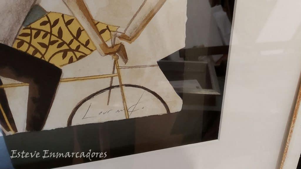 Firmada y numerada por Didier Lourenço - Esteve Enmarcadores