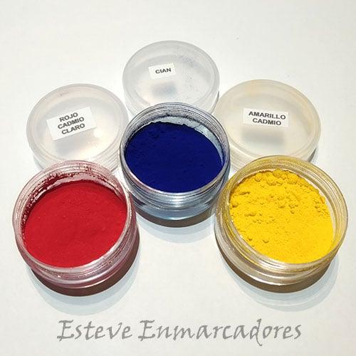 Rojo Cadmio - Cian - Amarillo Cadmio - Esteve Enmarcadores