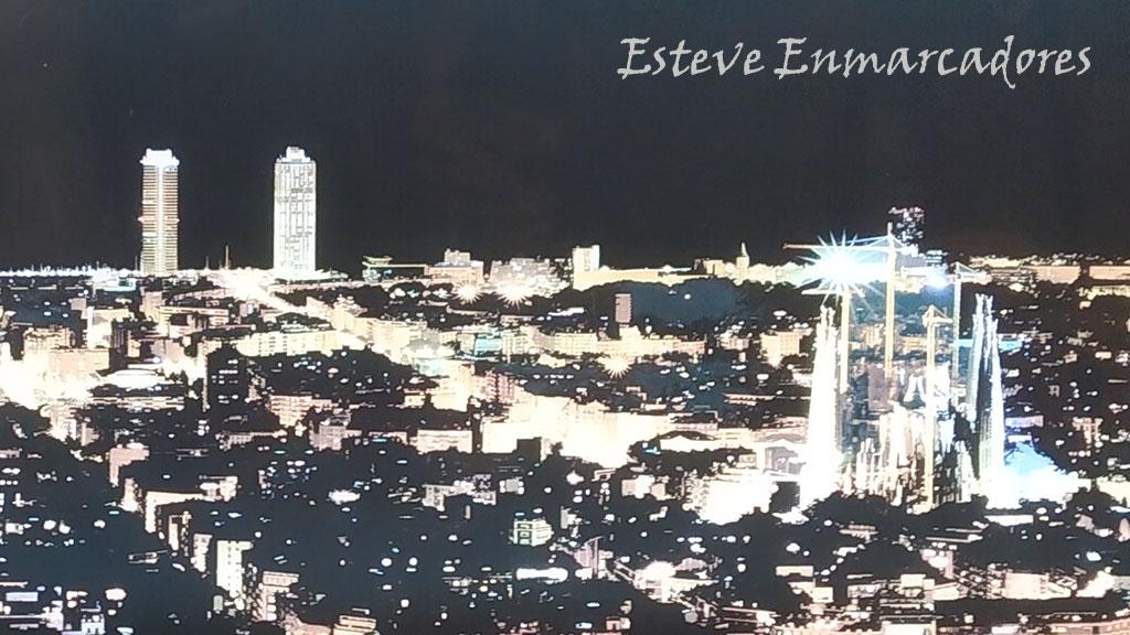 Detalle de Barcelona nocturna - Esteve Enmarcadores
