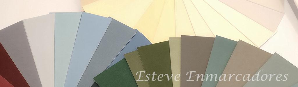 Elegir colores para enmarcar - Azules, verdes y ocres - Esteve Enmarcadores