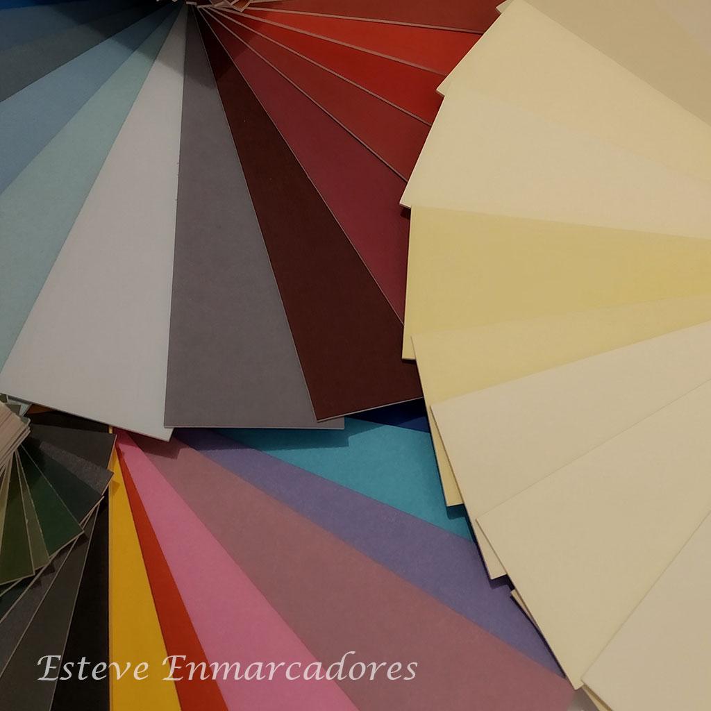 Elegir colores para enmarcar - Esteve Enmarcadores