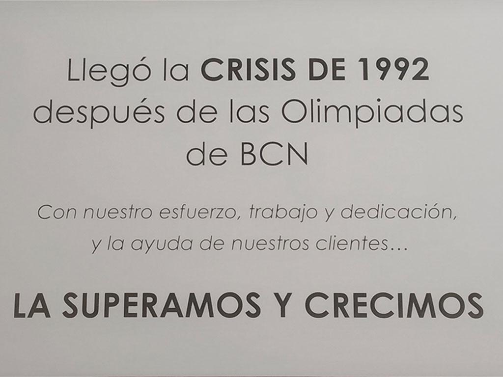 Crisis 1992 - Esteve Enmarcadores