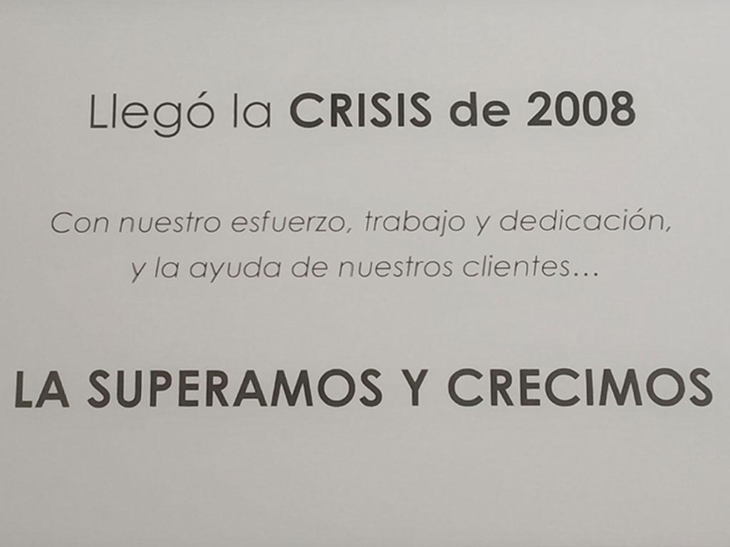 Crisis 2008 - Esteve Enmarcadores