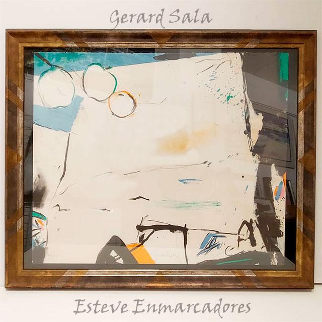 Litografía de Gerard Sala enmarcada - Esteve Enmarcadores