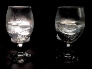 Agua hielo calor y noche