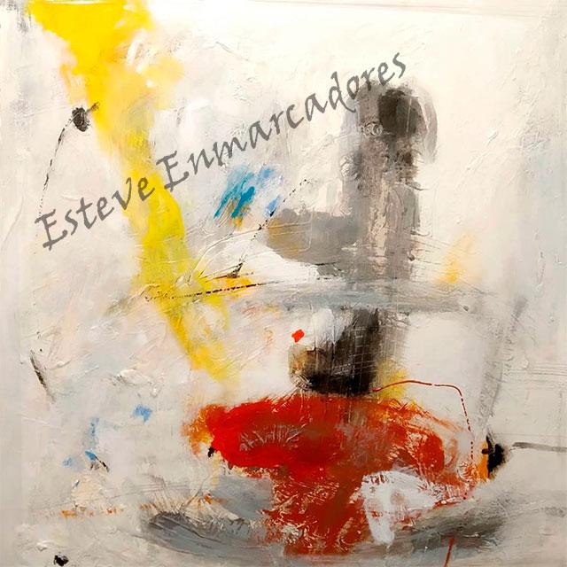 Oleo Abstracto Original - Esteve Enmarcadores