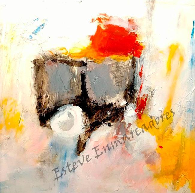 Original pintura abstracta - Gilabert-1 - Esteve Enmarcadores
