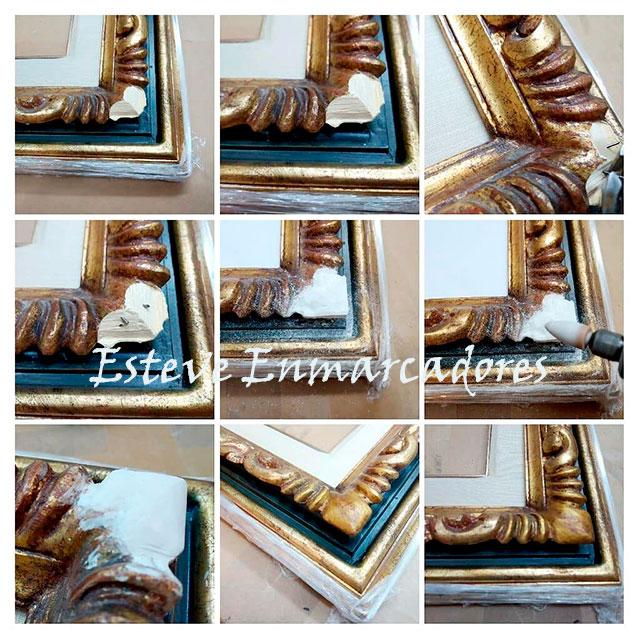 Restaurar marco de talla - Esteve Enmarcadores