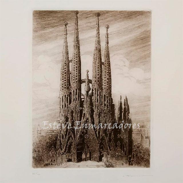 Grabado Sagrada Familia - Esteve Enmarcadores