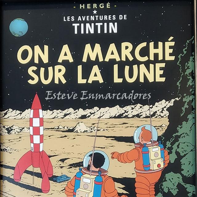 Del Tintín original en francés - Esteve Enmarcadores