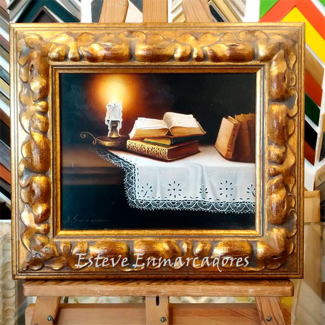 Pintura al óleo sobre tela - Esteve Enmarcadores